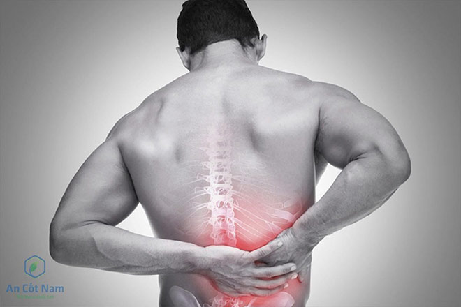 Chấn thương vùng lưng trên.