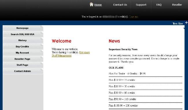 Trang web bán thông tin cá nhân của Hieupc